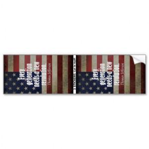 Thomas Jefferson Quote on Revolution Bumper Stickers