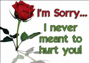 am sorry greeting card