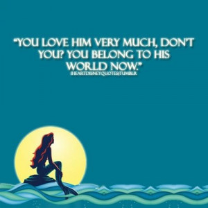 little mermaid love quotes 4 little mermaid movie quote