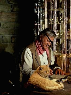 Rooster Cogburn. John Wayne. Cat General Sterling Price
