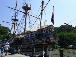 replica of the Susan Constant bound for Jamestown.