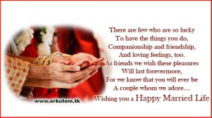 Wedding & Marriage Quotes Orkut Greeting Card