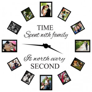 Time spent with family is worth every second wall decal quote - Family ...