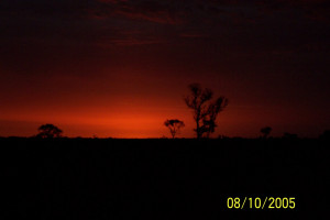 Outback Australia looking at a sunset anywhere