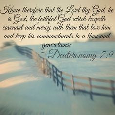 keepeth covenant and mercy with them that love him and keep his ...