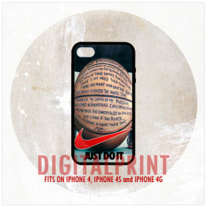 Nike Just Do It Basketball Quotes, iPhone 4, 4S, 4G
