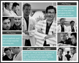 Grey's Anatomy - Mark Derek - Best Buds !
