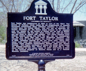 Construction of Fort Taylor began in 1845. The fort was located 1,200 ...