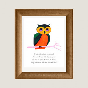 Wise Old Owl Bird Quote 8 x 10 Art Print/Wall Art by BrionyBurke, $24 ...