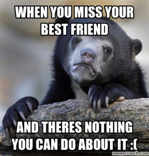 Missing Your Best Friend...