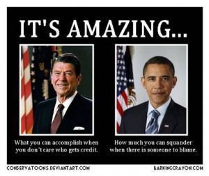 Barack Obama has tried to compare himself to the great Ronald Reagan ...
