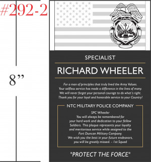 military retirement plaque wording source http military allalla com ...