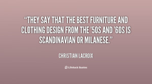 They say that the best furniture and clothing design from the '50s and ...