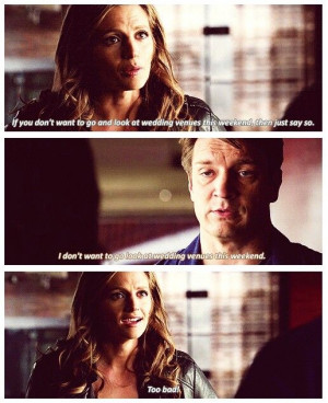 ... Castle TV show quotesCastles Tv Series Quotes, Beckett And Castle