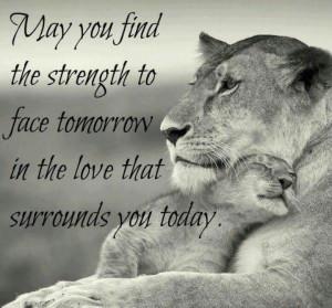Find strength in love