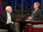 John McCain with David Letterman