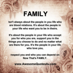 Family isn't always about the people in you life who are blood ...