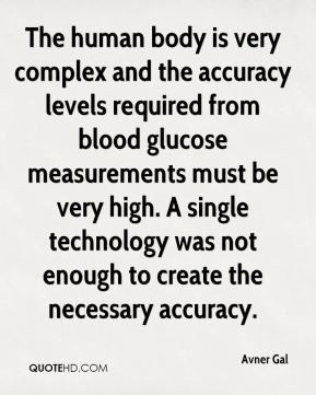 The human body is very complex and the accuracy levels required from ...