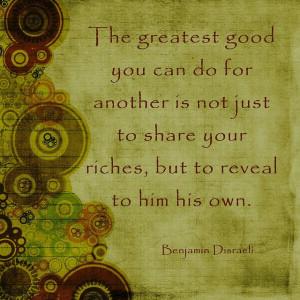 Benjamin Disraeli ️