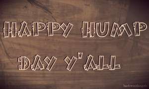 Happy Hump Day Y'all! Almost halfway through the work week!