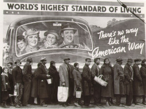 1937 photo by Margaret Bourke-White – Breadline during Louisville ...
