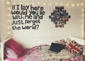 bedroom wall quote