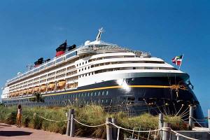 The Disney Magic Docked at Castaway Cay
