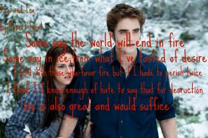 Twilight Saga Poem