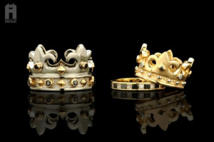 Wedding rings for king or queen #crown: Royal Affairs, Queens Crowns ...