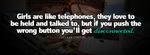 Click to get this girls are like telephones facebook cover photo