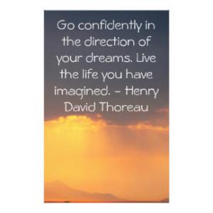 Inspirational Thoreau Quote Stationery Design