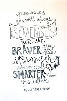 Christopher Robin Quote by WhimsyLettering on Etsy More