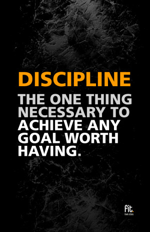 Becoming disciplined is quite frankly the best way to control your ...