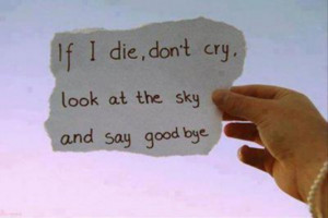 If I Die, Dont Cry