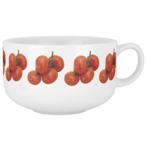 Tomato Vegetable fun soup bowl Soup Bowl With Handle
