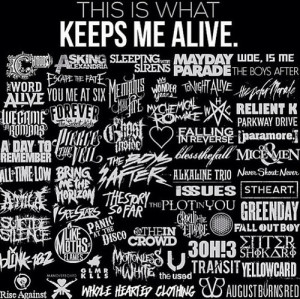 ... issues, mayday parade, my chemical romance, pierce the veil, of mice
