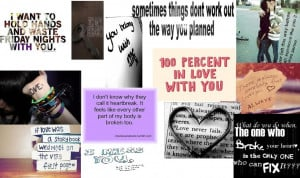Emo Love Quotes 'I made in a poster thing :)*