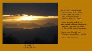 Sunset 2 w Poem Photograph - Sunset 2 w Poem Fine Art Print - David ...