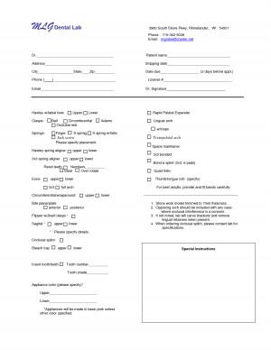 dental lab prescription template source http linksservice com dental ...
