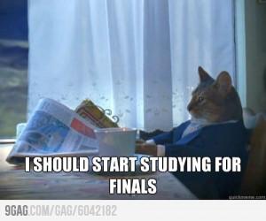should start studying for finals
