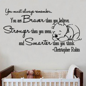 Christopher Robin Quote Decal Wall Sticker