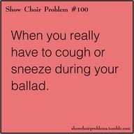 show choir problems