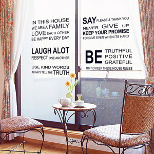 1set Good Quality Family Wall Quotes Sticker For Living Room Wall ...