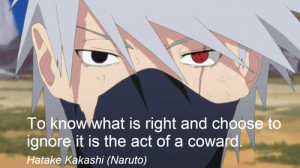Re: Whats your favorite naruto quotes?