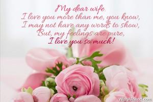 My dear wife, I love