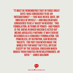 James Baldwin Quotes On Racism