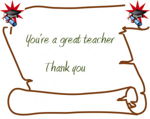 Thank You Quotes For Cards For Teachers #1