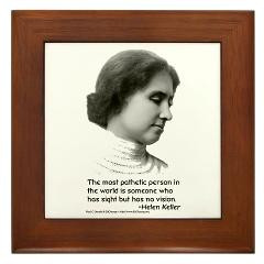 view larger helen keller vision framed tile helen keller the most ...