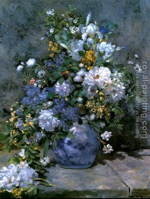 Pierre Auguste Renoir Bouquet of Flowers Painting
