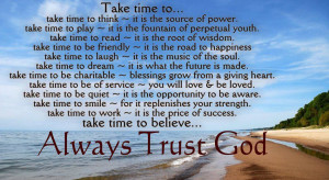 Depend on the LORD; trust him, and he will take care of you. Psalm 37 ...